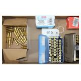 (73) rds. .25-20 ammunition, 24 New brass cases,