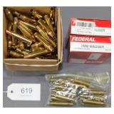 (2) full boxes Federal 7 mm Mauser unprimed cases,