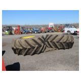 (2) Firestone 35.5L-32 Combine Tires & Rims
