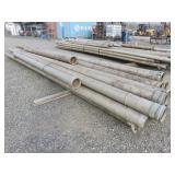 """Assorted 6"""" Aluminum Irrigation Pipes"""