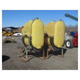 (2) Demco 250 Gallon Saddle Tanks & Mounting Brack