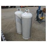 (2) 100 LB. Flame King Propane Cylinder