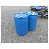 (2) 55 Gal. Plastic Drums