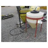 (2) Cone Bottom Inductor Tanks w/Electric Pumps