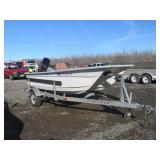 1997 Livingston Skiff Boat & 1998 Pacific Trailer
