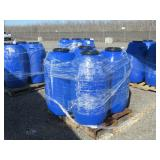 (4) 55 Gallon Plastic Barrels w/Screw On Lids