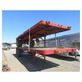 (DMV) Set of . Reliance . . Flatbed Double Trailer