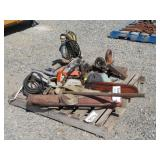 Pallet of Assorted Tools, Chainsaw & More
