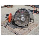 Assorted Fans, Chop Saw & More