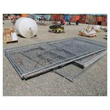 Assorted Chain Link Fence Panels