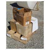 Pallet of Paint and Lubricant