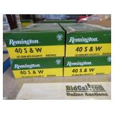 (4) Boxes of Remington .40 S & W Ammo
