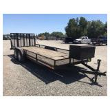 "(DMV) 1993 Custom Tandem Axle Trailer 82"" x 20"