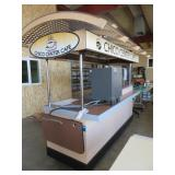 Portable Coffee Cart with Refrigerator, Sink,