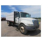 (DMV) 2003 International 4300 DT466 Box Dump Truck