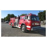 (DMV) Ford 8000 Custom Cab Fire Truck w/ Water Can