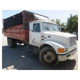 (DMV) 1994 International 4700 DT408 Box Dump Truck