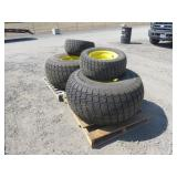 Set of Turf Tires & Rims Tire: 22.5LLX16.1 & 27/12