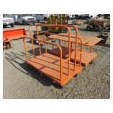 (2) Assorted Metal Material Cart