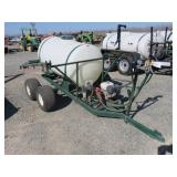 200 Gallon PBM Tow Behind Boom Sprayer Dual Axle,