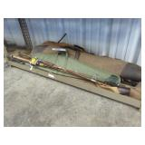 Lot of Assorted Fishing Poles & Gun Cases