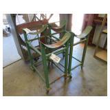 (2) Portable 30 Gallon Drum Tables w/ Roller