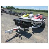 (2) 1997 Wave Runners & Trailer
