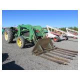 John Deere 6359 Wheel Tractor with Brush Rake Atta