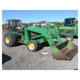 John Deere 2440 Wheel Tractor with Loader Attachme