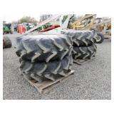 "(4) Titan 18.4 - 26 Tractor Tires on 16"" Rims"