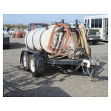 550 Gallon Water Trailer with Honda Gas Motor