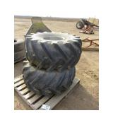 (2) 21.5L x 16.1 Tractor Tires and Rims