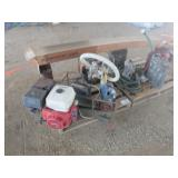 (2) Pallets of Misc. Gas Engine Pumps, Gas Tanks &