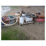 (3) Pallets of Misc. Hose, PVC, Liners & More