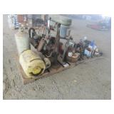 (2) Pallets of Misc. Engines, Motor, Drill Press &
