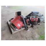 (2) Pallets of Misc. Sweeper Parts & More