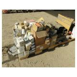 (3) Pallets of Misc. Filters, Tree Sticks & More