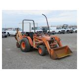 Kubota Wheel Tractor w/Front Loader & Backhoe Atta