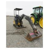 John Deere D17 Mini Excavator w/ Blade