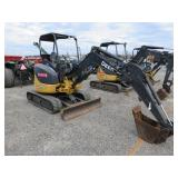 2012 John Deere 27D Mini Excavator with Blade