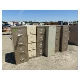 (6) Assorted Filing Cabinets