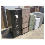 (5) Assorted Filing Cabinets