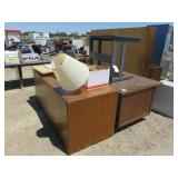 Misc. Office Furniture, Pin Boards, Desks and More