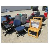 Approx. (15) Assorted Chairs and Office Furniture