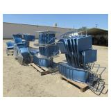 Approx. (120) Blue Metal/ Plastic Stacking Chairs