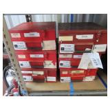 (6) Metal Storage Boxes
