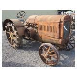 Antique McCormick Deering Wheel Tractor