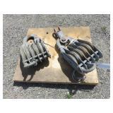 (2) Heavy Duty Sheave Blocks