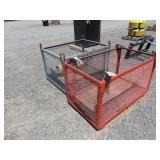 (2) Crane Baskets and (1) Large Hydraulic Ram