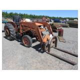 Kubota L285 Wheel Tractor with Fork Attachment